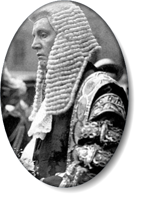 Sir F. E. Smith, newly created Lord Birkenhead, on his appointment as Lord Chancellor