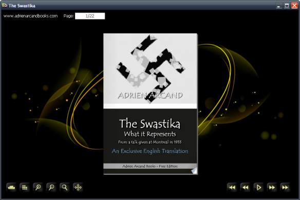 The Swastika What it Reoresents, Adrien Arcand, flash flipbook