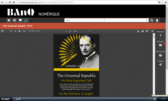 The Universal Republic is now online at the Quebec Archives
