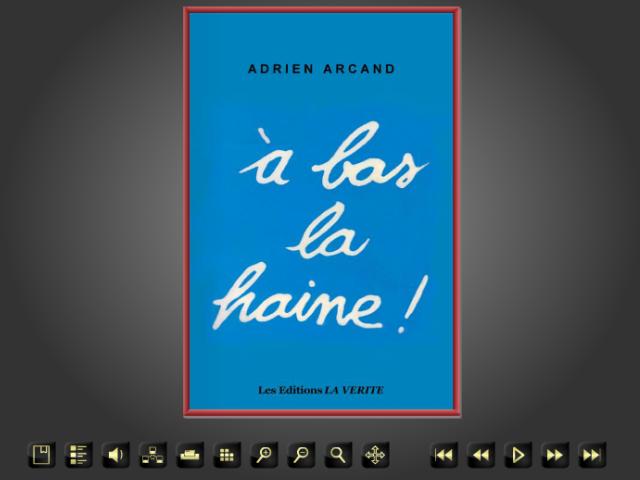 Adrien Arcand, A Bas La Haine! fac-similé gratuit / Free facsimile copy