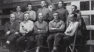 Arcand and his men in a concentration camp