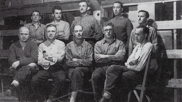 Adrien Arcand and his men in Fredericton concentration camp, WWII