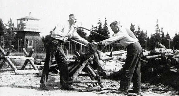 Splitting or sawing wood was not a typical form of exercise for Adrien Arcand