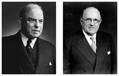 L-R:  William Lyon Mackenzie King, Ernest Lapointe, PC