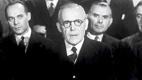 Louis-Stephen Saint-Laurent on 13 January 1946, tells the UN it's the basis of the world government.