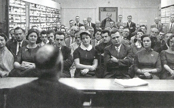 Adrien Arcand lecturing (post-WWII)