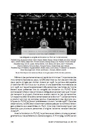 Rajotte, <i>L'État canadien contre le Parti de l'unité nationale et Adrien Arcand</i> (2018)