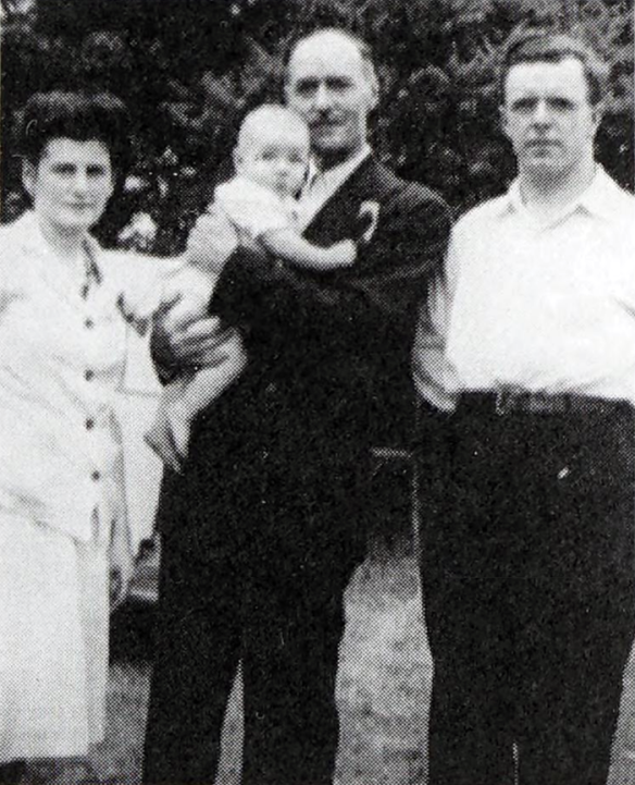 Adrien Arcand with the family of his friend, Gérard Lemieux