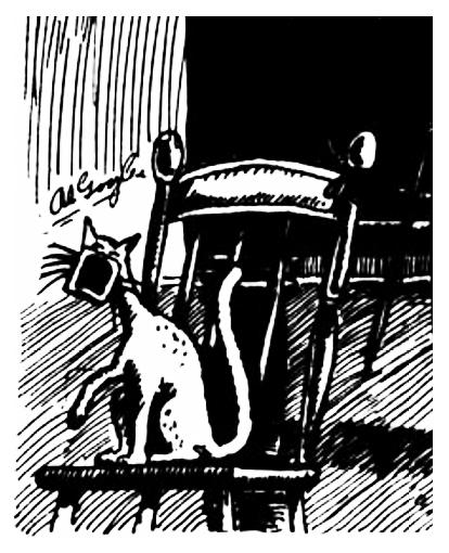 """""""Cat"""" by Al Goglu, <i>Le Goglu</i>, Jan 16, 1931, p. 3"""