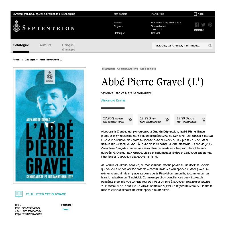 L'Abbe Pierre Gravel (Septentrion)