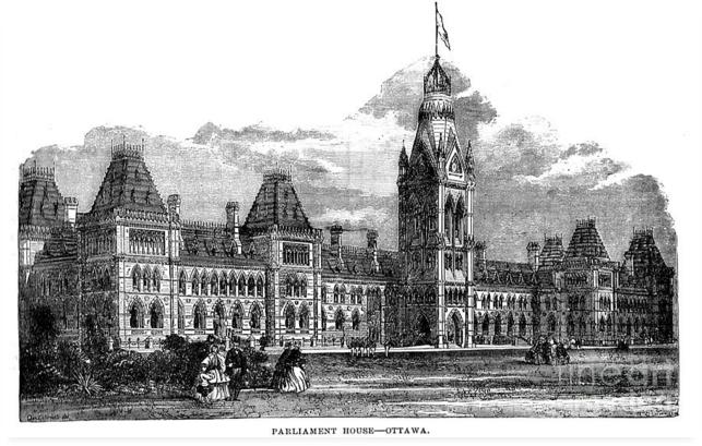 Parliament Building - Ottawa - 1878 by Art MacKay