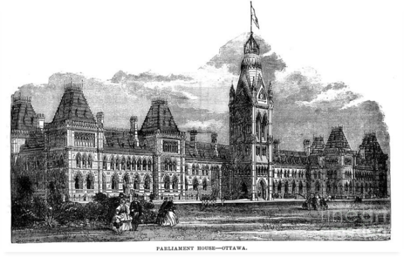 Parliament Building - Ottawa - 1878 by Art MacKay