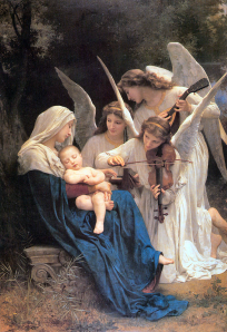 Song of the Angels (1881) by French painter, William-Adolphe Bouguereau