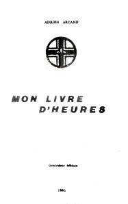 Mon Livre d'Heures 4e édition 1981