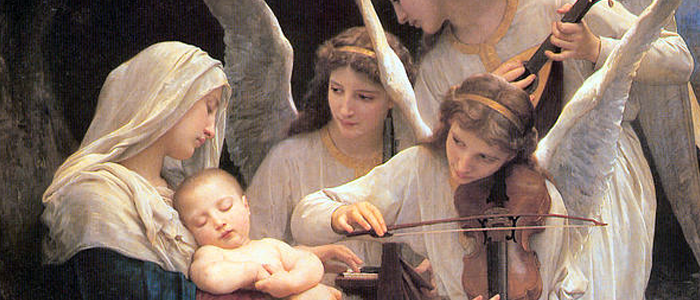 Song of the Angels (1881) Bouguereau close-up